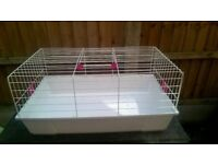 good condition white rabbit g.pig cage