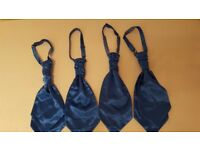 5 professionally made marine blue mens cravats - wedding