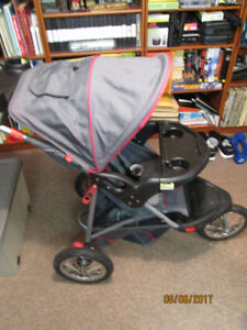 Baby Trend Expedition Collapsible 3 Wheel Jogging Stroller.