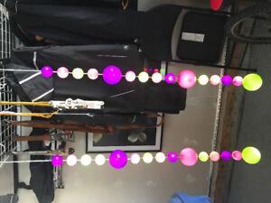 2 hanging coloured ball lights