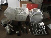 Kitchen utensils, etc
