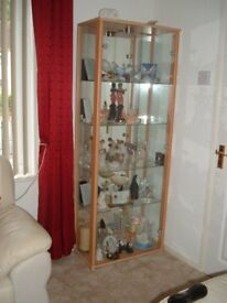 glass display cabinet... excellent condition..