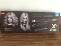 2 in 1 straightener and curler by JML. New in box.