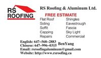 Re-roofing and aluminum @6479960315 free estimate