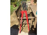 set of cast iron and earthen ware chain cutters idea for plumbing or drainage contractor