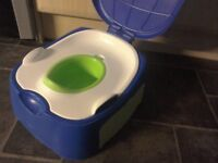 Potty 3 in 1 potty, toilet seat insert and step stool Excellent clean condition