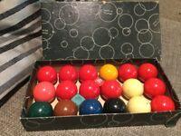 Full set snooker balls