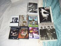 JOB LOT OF CLASSIC ROCK DVD'S AND BOOKS-VGC-CLOSE OFFERS CONSIDERED