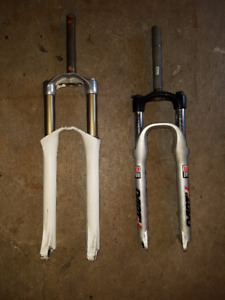 rockshox dirt2 fork in good condition & marzocchi forks, unknown