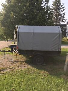 8x8 covered trailer