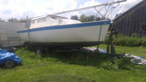Project boat with trailer and  outboard