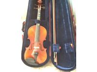 Half Size Student Violin by 'Inter-Music'.