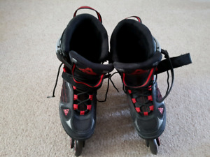 Inline roller blades black and red