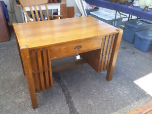 Solid Oak Mission Library Desk