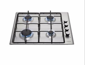 BRAND NEW GAS HOB, STAINLESS STEEL, BOXED, SUPPLIED, DELIVERED, GUARANTEED, FITTED, GAS SAFE £160