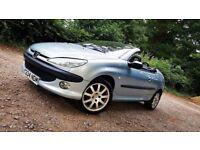 2001 Peugeot 206cc 2.0 Convertible Full Leather Long MOT Cheap Cabriolet Hardtop Megane 206 CC 307