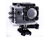 Pink/Grey/Black 1080p Action Sports Camera 30m Waterproof HD & Mounting DV Cam!