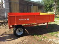 Kubota 2 tonne dropside tipping trailer