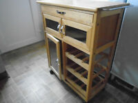 Butchers Block Kitchen Island, Pine