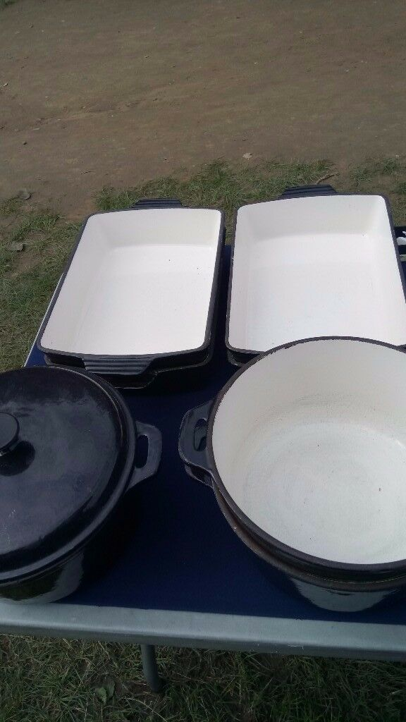 Large commercial size Cast iron cooking pots