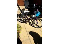 "Extreme Wave Raleigh 20"" girls bike for 7-9 year old"