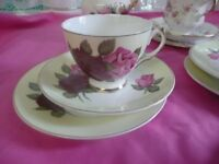 Vintage Bone China Trios. Ideal For Weddings Afternoon Teas etc