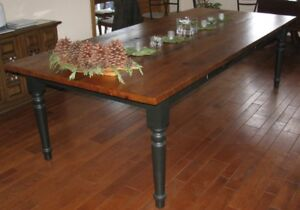 Beautiful Custom Pine Harvest Table