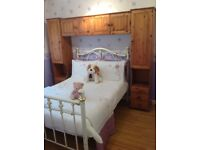 Over the bed unit storage solid pine Double bed or Kingsize bed storage Portadown 07563870358 £50