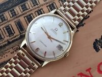 Rare vintage 1963 solid 18ct 18k gold Omega Seamaster Automatic mens Swiss watch