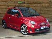 Abarth 595 1.4 T-Jet 160 BHP Turismo 3dr MTA Auto FANTASTIC SPECIFICATION (red) 2015