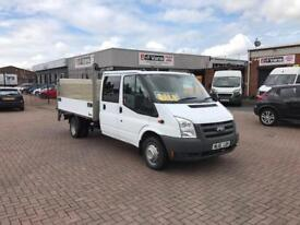 January 2012 ford transit 100t350 double cad dropside with tail lift, 130k £7495 + vat.