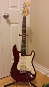 Squier Strat by Fender and Amp