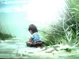 Boy on Beach Oil on Canvas