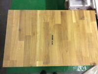 Oak work top off cut 62cm L x 38cm W x 4cm D