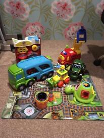 Vtech Toot Toot Fire Station Engine John Deere Tractor Train Digger Toys