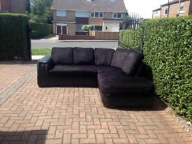 Black Corner Sofa delivery available