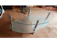 Glass table for sale collection only