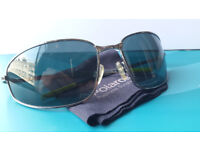 Genuine Polaroid Metal Sunglasses Green Lens