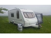 Ace jubilee 4 berth caravan with awning and tall bedroom annex and motor mover