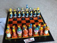 Simpsons 3D Chess Game in Mint Condition