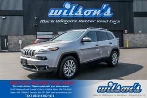 2016 Jeep Cherokee LIMITED 4WD! LEATHER! NAV! PANORAMIC SUNROOF!