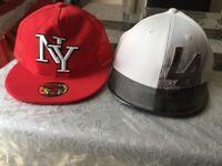 Two SnapBack hats NY LA