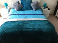 Bed, matress and bedsides