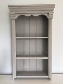 Vintage grey painted shelves