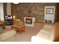 Central / New Town. Beautiful, spacious 2 bedroomed Garden level apartment with seperate office