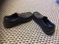 School shoes size 12 and 2 pairs of clogs extra