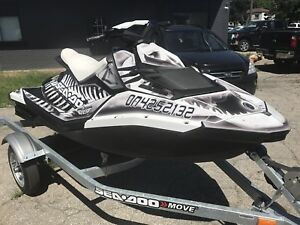 2014 seadoo spark with trailer