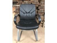 Reception/Visitor Chair, Leather Faced. 7 In Stock.