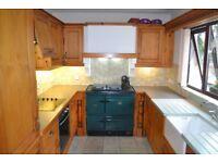Solid Oak Kitchen WITH NEFF Appliances (Ceramic Hob,Fridge,Freezer,Extractor Fan) and Belfast Sink
