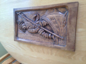 2 Hand carved pictures